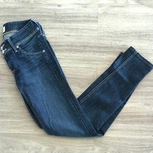 Hudson Jeans Collin Flap Skinny Jeans in Stel OBO